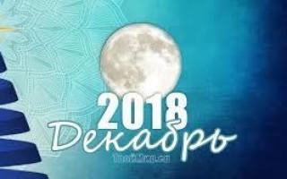 Лунный календарь на каждый день, декабрь 2018