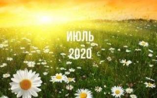 Лунный календарь, гороскоп, июль 2020