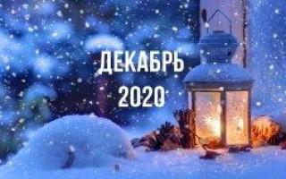 Лунный календарь, гороскоп, декабрь 2020