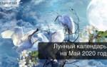 Лунный календарь, гороскоп, май 2020